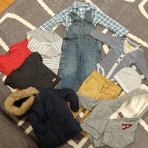 Lots of boys clothes and shoes size 2